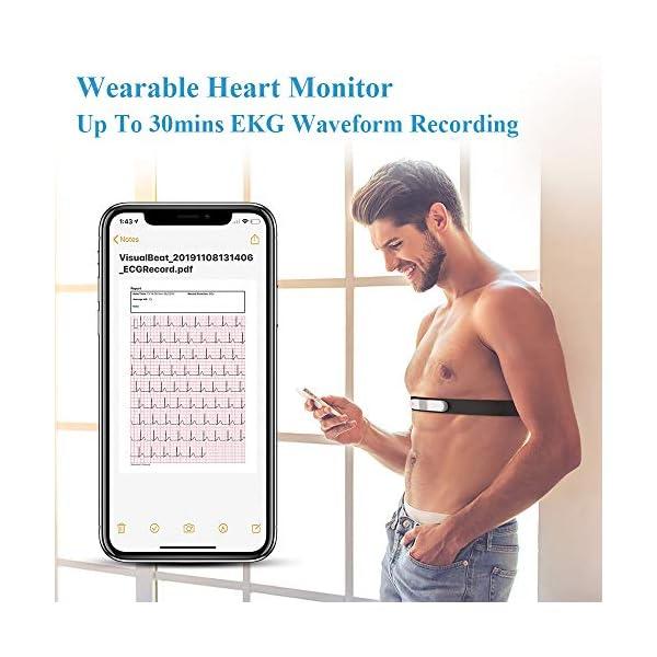 ViATOM Pulsómetro, Bluetooth/Ant+ HRM Run, Portatil ECG Monitor Correa de Pecho, Impermeable ANT+ Fitness Tracker con… 5