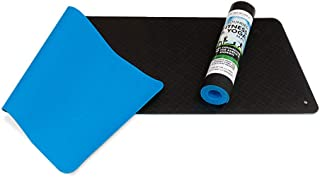 Dr. Mercola Grounded Fitness and Yoga Mat - with Snap-On Earthing Cord and Multi-Mat Adapter - Anti-Skid - Odorless - Free from PVC/Latex - Perfect Travel Yoga Mat - Ideal Workout Mat for Home or Gym