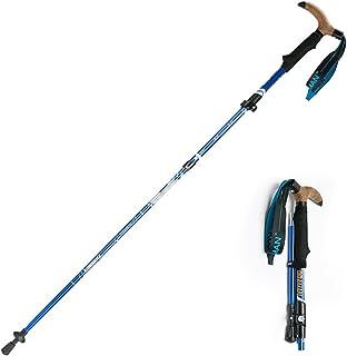 Folds Down to 28 cm Nordic Walking Hiking Trekking Pole Walking Stick Fitness Wrist Strap Adjustable Ergonomic EVA Handle ...