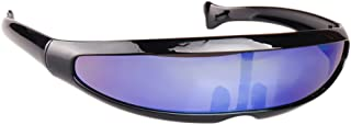 Haihuic Futuristic Cyclops Sunglasses Cyberpunk Mirrored Lens Visor Sunglasses