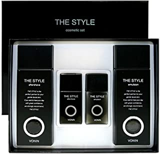 ボニンダースタイルアフターシェーブ170ml(135+35)エマルジョン170ml(135+35)セットメンズコスメ韓国コスメ、VONIN The Style Aftershave 170ml(135+35) Emulsion 170ml(135+35) Set Men's Cosmetics Korean Cosmetics [並行輸入品]