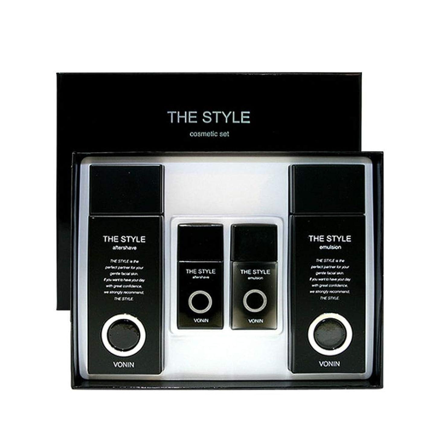 毛細血管眉もう一度ボニンダースタイルアフターシェーブ170ml(135+35)エマルジョン170ml(135+35)セットメンズコスメ韓国コスメ、VONIN The Style Aftershave 170ml(135+35) Emulsion 170ml(135+35) Set Men's Cosmetics Korean Cosmetics [並行輸入品]