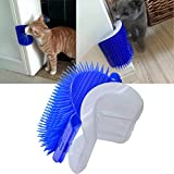 Zaohe Soft Animals Brush Self Groomer with Catnip, Hand-Free Dog Cat Corner Groomer, Grooming Animal Hair Brushes, Wall Corner Massager Comb for Long & Short Fur Cats/Dogs/Horses