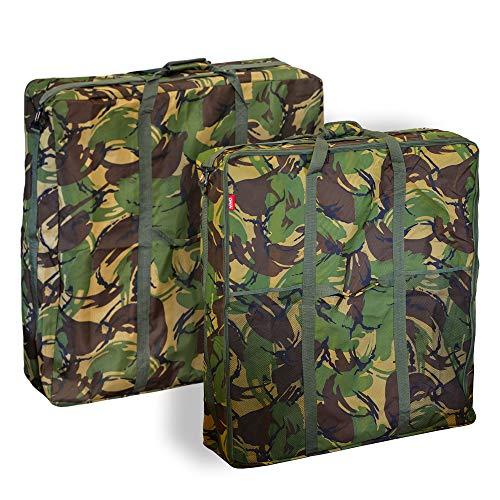 DPM Camo Carp Coarse Fishing Luggage Carryall Bag Holdall Multi Listing Barrow Cases Tackle (1) Bedchair Bag)
