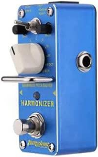 Armonizador Armonizador Pitch Shifter Pedal de efecto de guitarra eléctrica Mini efecto individual con True Bypass Blue (ToGames)