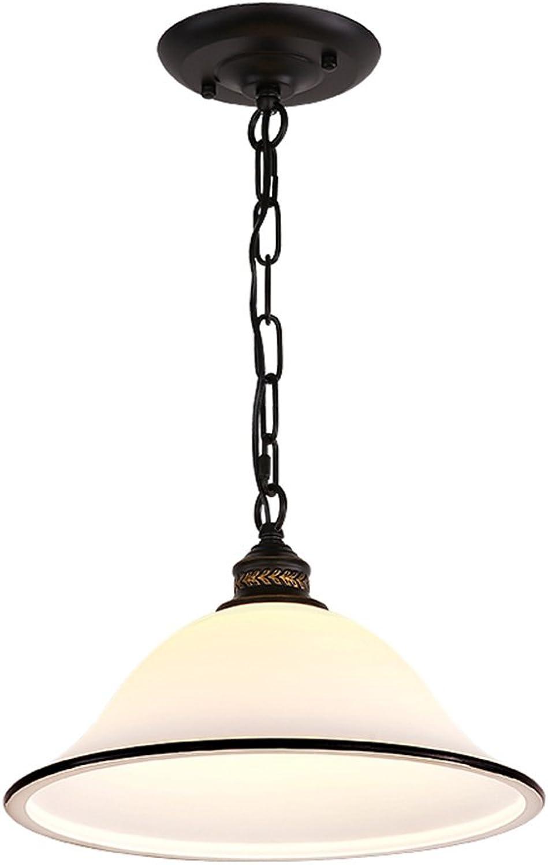 Chandelier-S SZQ Glasleuchter, kreativer Topf-Abdeckungs-Leuchter-Restaurant-Studie-Dekorations-Leuchter-Retro- Eisen-Kunst-Leuchter-einzelner Kopf E27, 32  14CM Perfekt (gre   32  14CM)