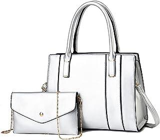 ELDA Oberer Henkel für Damen Schulter-Tragetaschen, Geldbörsen und Leder-Handtaschen, 2-teiliges Set