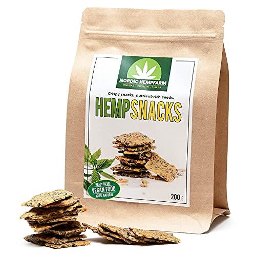 NORDIC HEMPFARM hampachips gjorda av näringsrika hampafrön | Friska chipsalternativ | Som mellanmål för mellan Vegan | Set med 10 x 200 g