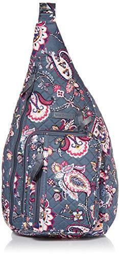 Vera Bradley Women's Signature Cotton Medium Sling Backpack, Felicity Paisley, One Size