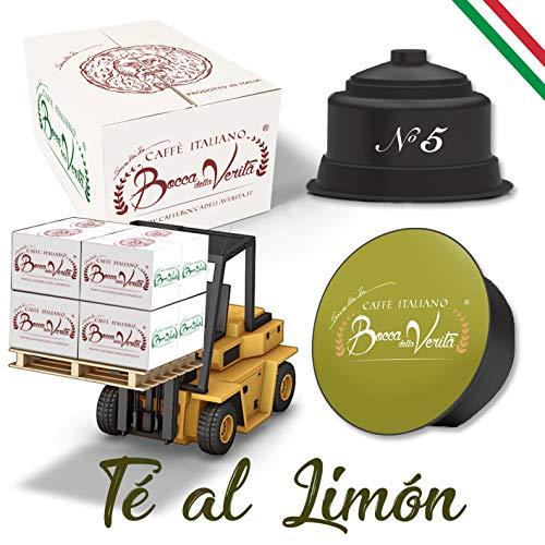 Coffee Bocca Della Verità Compatible Capsules Dolce Gusto '' Tea Leaf 'Platforms of 72 Boxes of 16 Cases for 6 Pieces