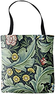 Women's William Morris Vintage Pattern, Leicester Cotton Linen Tote Bag Durable Shopping Bag