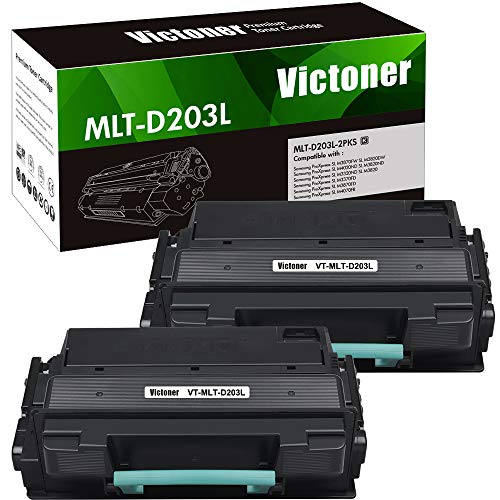 Victoner Compatible Toner Cartridge Replacement for Samsung 203 203L MLT-D203L MLT-D203S for Samsung ProXpress M3870FW M3820DW M4020ND M4070FR M3320ND M3370FD Toner(Black, 2-Pack)
