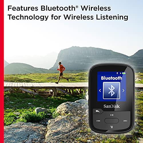 SanDisk Clip Sport Plus Wearable MP3 Player - Negro