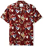 Amazon Brand - 28 Palms Men's Standard-Fit Tropical Hawaiian Shirt, Red Parrot, XX-Large