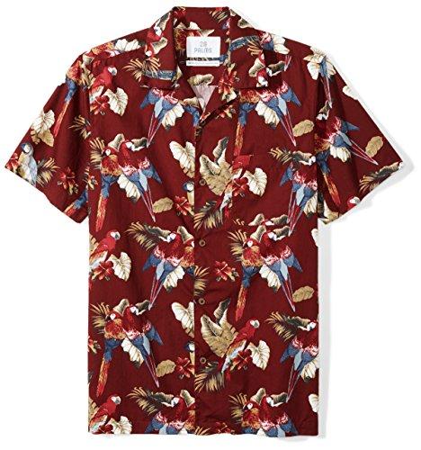 Marque Amazon - 28 Palms Standard-Fit Short-Sleeve 100% Cotton Hawaiian Shirt Chemise Homme, Aqua...