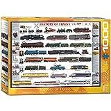 EuroGraphics History of Trains 1000pcs Puzzle - Rompecabezas (Puzzle Rompecabezas, Vehículos, Niños y Adultos, Niño/niña, Interior, Caja)
