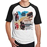 Tee-Shirt à Manches Courtes pour Hommes de Miles Davis Bitches Brew T-Shirt de Remise en Forme Contraste(M,Noir)