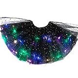 MX Magic Light Princess LED Dancing Skirt Luminous Christmas Party Stage Tulle Ballet Girl