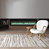 FIDOOVIVIA Electric Fireplace Freestanding Wall/Insert Mounted Fire Suite Heater with 9 Flame Colour Effect, Manual Switches & Remote Control, 900W/1800W