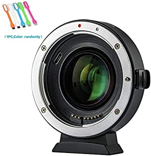 VILTROX EF-EOS M2 Auto Focus Lens Mount Adapter 0.71x Focal Reducer Booster for Canon EF Lens to EOS EF-M Mirrorless Camera M M2 M3 M5 M6 M10 M50 M100 AF