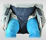 meylee Ältere Rollstuhl-Sitzgurte, 100% Nylon Anti-Fall Schutzgürtel, Gürtel Lange 97~135cm (Dunkelblau) -