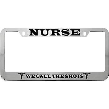 Speedy Pros Registered Nurse Zinc Metal License Plate Frame Car Auto Tag Holder Chrome 4 Holes