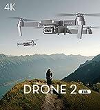 APJS Drone 2 E68 4K FPV Motor Drone Quadcopter Frame Pliable avec Caméra Ultra HD, Vol de Trajectoire, Selife Drones, Une-clé Retour, Mode Suivez-Moi, pour Adultes et Débutants