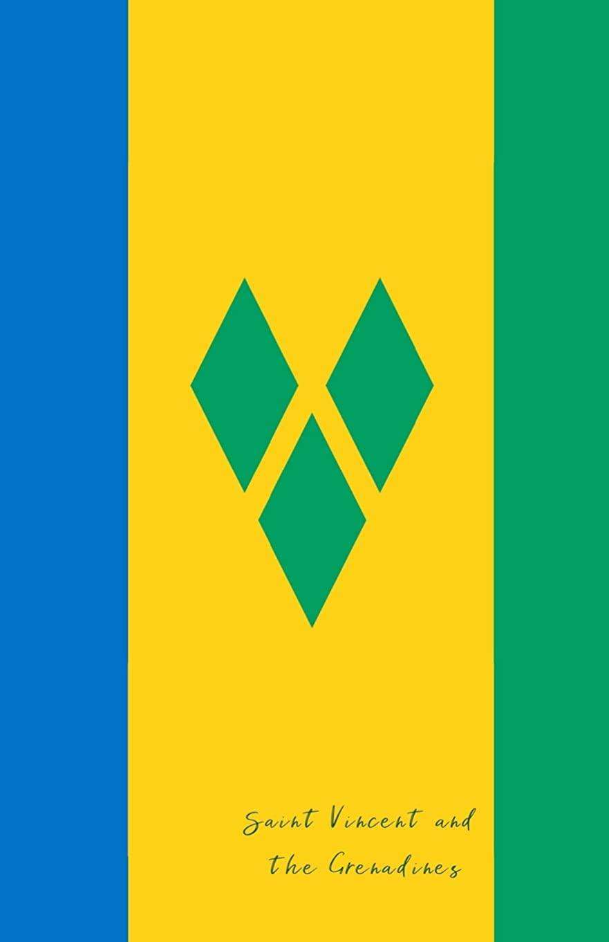 パック詩人最大Saint Vincent and the Grenadines: Flag Notebook, Travel Journal to write in, College Ruled Journey Diary