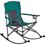 Westfield Outdoor Folding Camp Rocking Chair — 300-Lb. Capacity, Green/Black