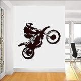 yaonuli Motocross Tatuajes de Pared Motocicleta Racing Vinilo Pegatina Decoración del hogar Papel Tapiz 58X42cm