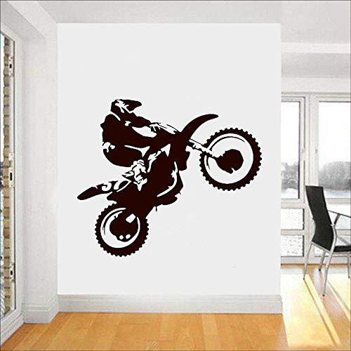 yaonuli Motocross Wandtattoo Motorrad Racing Vinyl Aufkleber Home Decoration Wallpaper 58X42cm