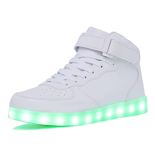 CIOR Kids Boy and Girl s High Top Led Sneakers Light Up Flashing Shoes (Toddler  bc87a3ddb