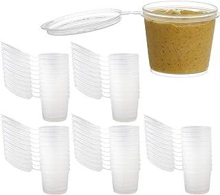 透明プラスチックジャー INTVN 使い捨て プラスチック ボックス 24本の1.4ozの空の明確なプラスチックの広い口の貯蔵ボトルの瓶コンテナ 貯蔵瓶