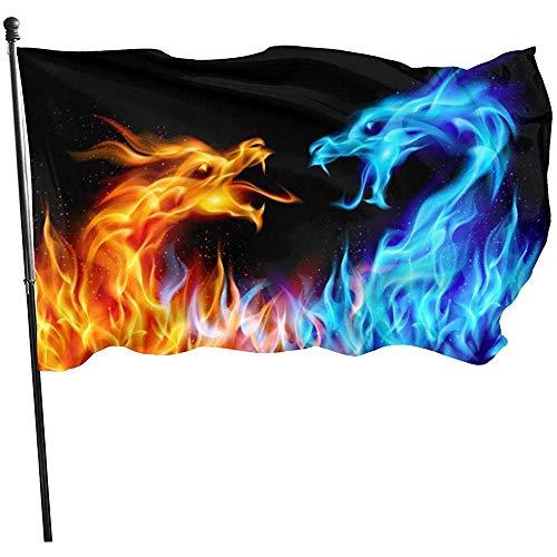 Garten Flagge Abstrakte Blaue Und Rote Feurige Drachen Garten Flagge Rasen Yard Banner Garten Flagge Langlebigen Strand Fahnen Fly Breeze Einfach Zu Bedienen Yard Flag House Flag Lebendige Willk