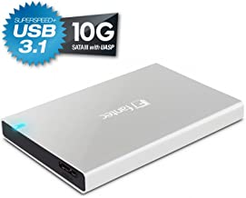 FANTEC ALU-25B31 Externes Festplattengehäuse (für den Einbau einer 6,35 cm (2,5 Zoll) SATA Festplatte oder SSD, USB 3.1 und UASP, Datentransfer bis 10Gbit/s, passive Kühlung, Aluminium Gehäuse) silber
