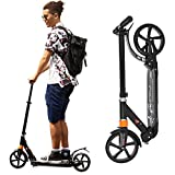 Adjustable Scooters for Kids Kick Scooter for Adults with Dual Suspension System Folding Scooter for Teens with 220 LBS Weight Capacity Light Weight Scooter for Boys Girls with 8 Inch Wheels
