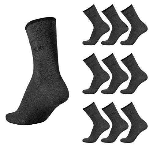 camel active Basic Socks 9er Pack 6593 620 anthracite Strumpf anthrazit grau Socken, Size:39-42