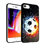 iPhone 7 8 CASEMPIRE Soccer Ball Fire Water TPU Case Shock Proof Never Fade Slim Fit Cover for iPhone 7 8 Soccer Ball Fire