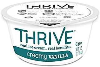 Thrive Frozen Nutrition, Creamy Vanilla Ice Cream, 6 oz Cups (24 count)