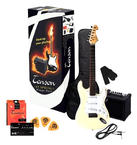 Tenson F502548 E-Gitarre ST Player Pack