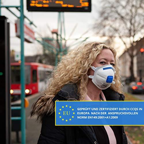VEVOX® FFP3 Masken *NEU* - Im 5er Set - mit Komfort Plus Abdichtung - Atemschutzmaske FFP3 mit Ventil - CE Zertifiziert für den zuverlässigsten Schutz - 7
