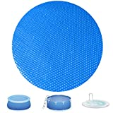 Evoio Solar Pool Covers for 6 8 10 12 15ft Diameter Round Easy Set and Frame Pools Round Inflatable Pool, In-Ground and Above-Ground Pool Solar Covers, Upgraded Solar Pool Blanket Covers (15 Foot)