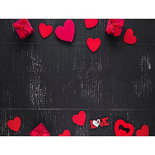 Fondo de fotografía de patrón Floral tablón de Madera Fondo de Fiesta de Flores decoración de cumpleaños Fondo de Vinilo fotográfico A20 7x5ft / 2,1x1,5 m