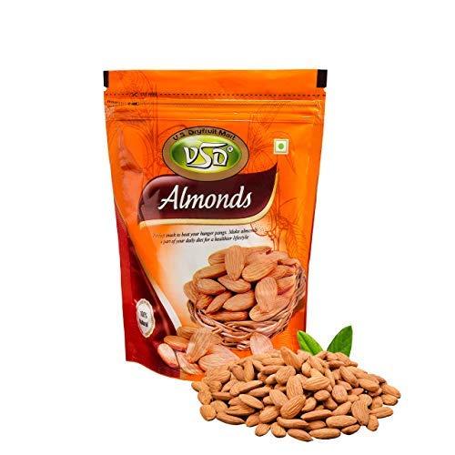 100% Natural Premium 1kg California Almonds (250g x 4) - No Gluten No GMO Zero Trans Fat - Hygienically Packed Organic Almonds (1kg)