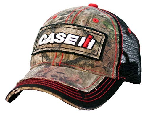 Case IH Youth Distressed Camo Baseball Cap, Mesh Back Hat for Kids, One Size Fits Most, Green
