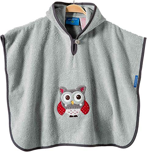 Morgenstern Baby Badeponcho Frottee Badetuch Poncho mit Kapuze Eule one size