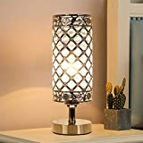 Crystal Table Desk Lamp,Elegant Bedside Light with Crystal Shade, Glam Lamps,Crystal Table Lamp Bedside Nightstand Lamps K9 Crystal Decorative Desk Lamp for Bedroom,Living Room