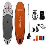 InChengGouFouX Tabla De Sup Hinchable Inflable Permanente de Surf Hinchable con Tabla de Surf Sup Inflable Kit Ideal for Principiantes con Ajustable Paddle Board Touring Ligero Y Duradero