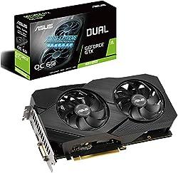 powerful Asus GeForce GTX 1660 Super Overclocking 6 GB Evo Edition VR Compatible HDMI DisplayPort DVI, 2 Fans …