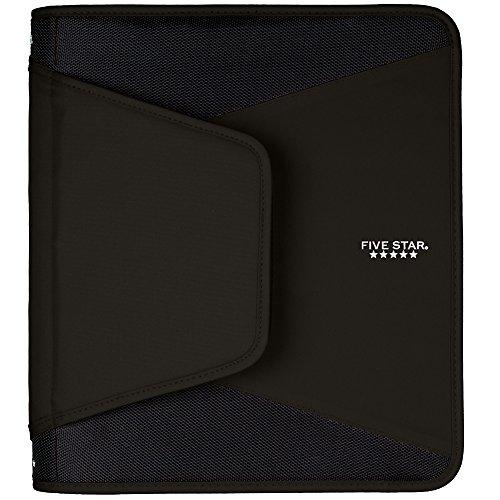 Five Star carpeta de anillas con cierre, Negro